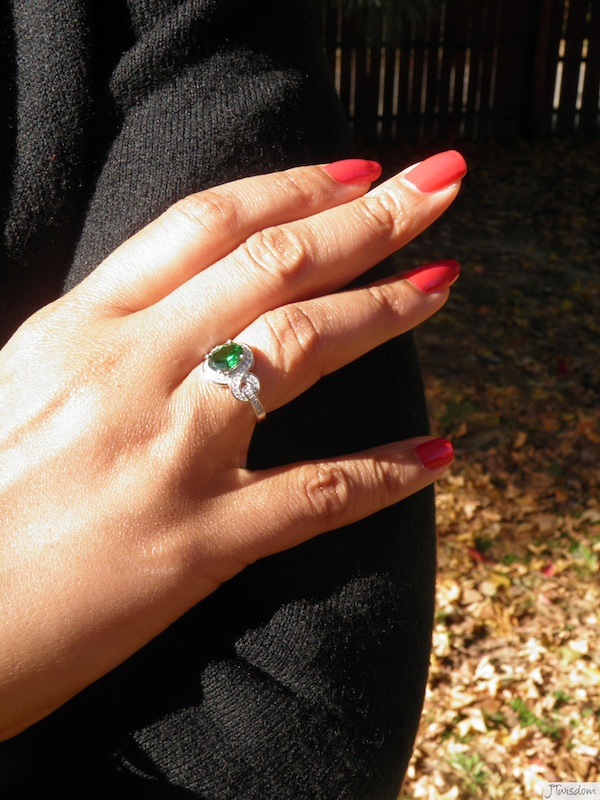 Cz Diamond Ring With Baguettes