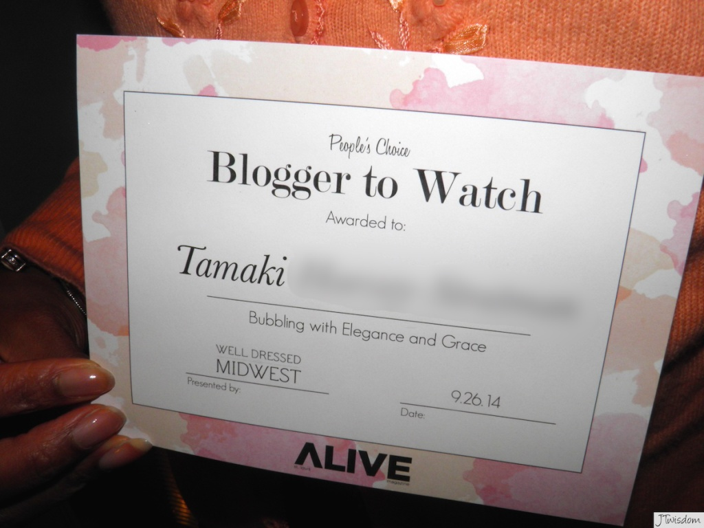 Blogger To Watch Award