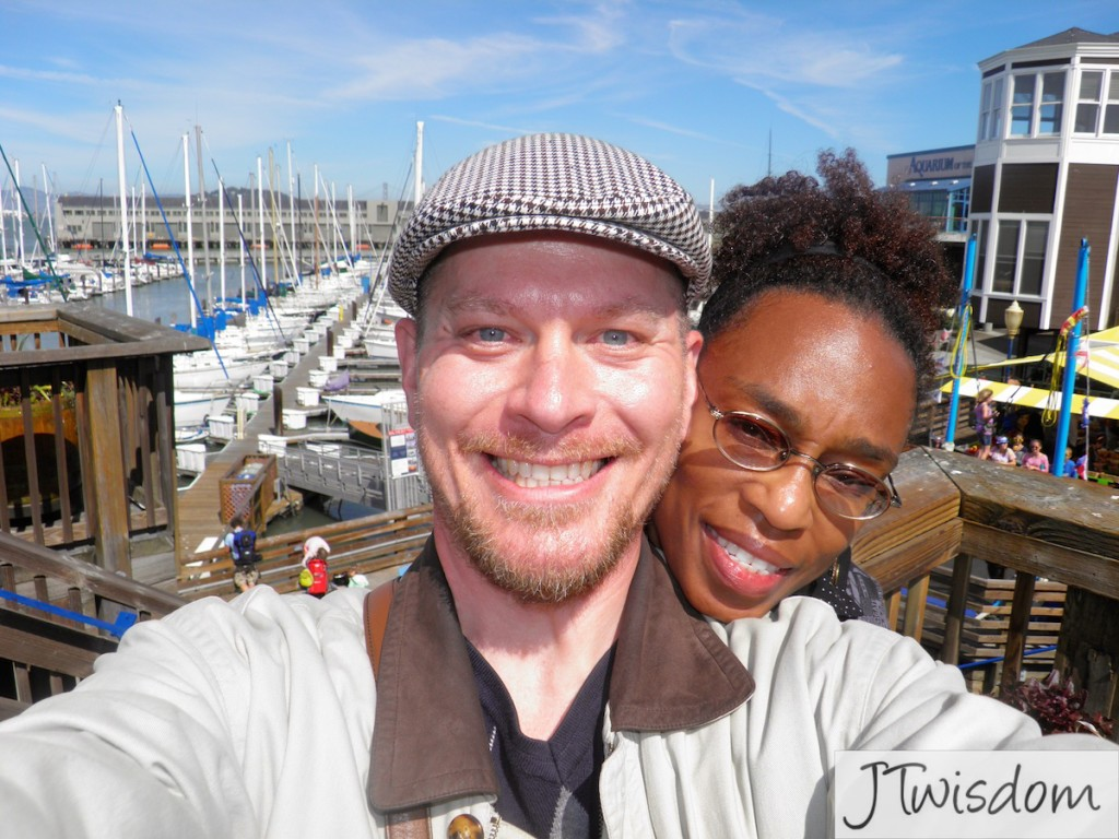 With my hubby in San Francisco at Fishermen's Wharf.