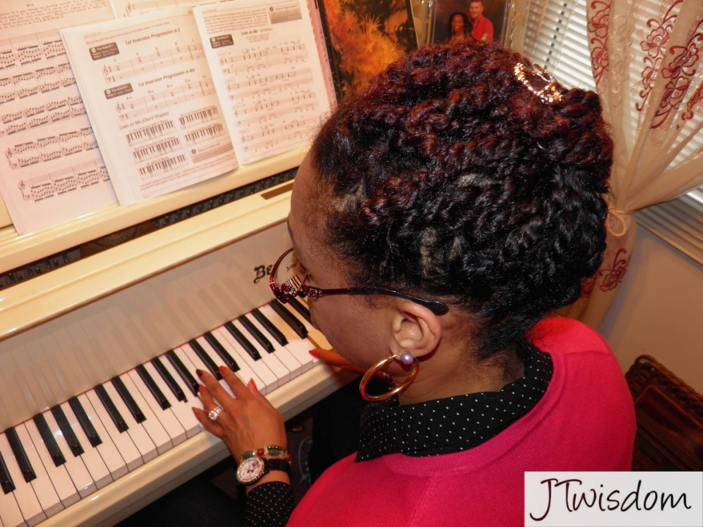 JT studying piano