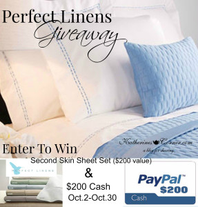 perfect linens giveaway collage