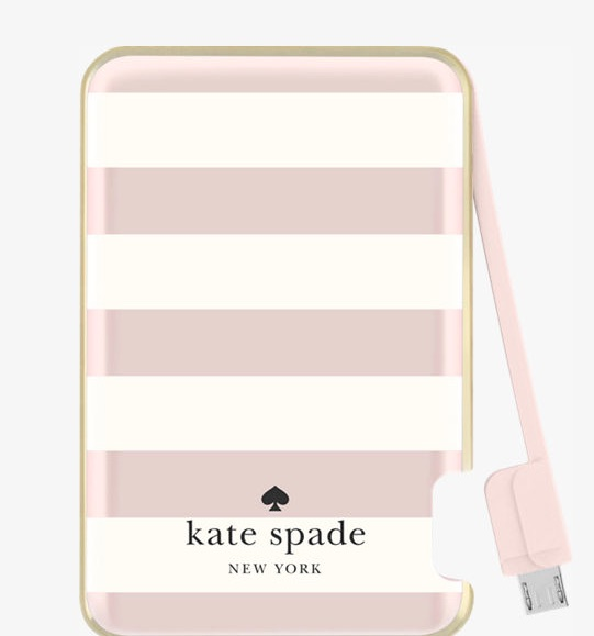 Girl Gadgets:The Kate Spade New York Slim Portable Charger : Bubbling ...