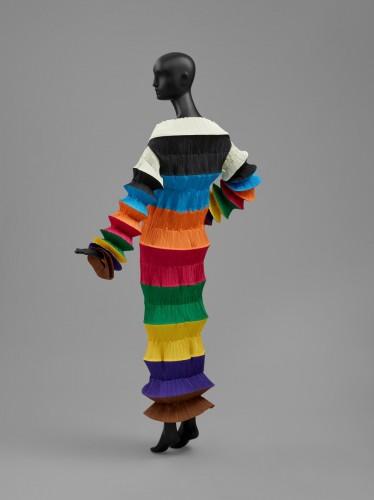 "40ea8e8af819 Woman's ""Flying Saucer"" Dress, Spring/Summer 1994. Heat-set polyester plain  weave. Gift of Issey Miyake, 1997."